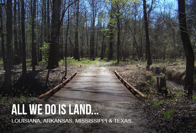 RecLand is the Duck Commander Endorsed Land Broker and sells hunting land timber land farm land in Louisiana Arkansas Mississippi Texas - All we do is land - bridge